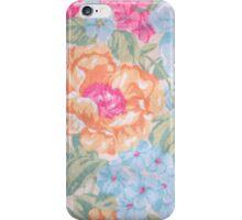 Vintage pink blue orange floral pattern iPhone Case/Skin