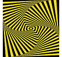 Op-Art Rad Rectangles in Gold Photographic Print
