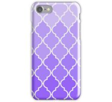 Vintage purple lilac classic Quatrefoil Pattern iPhone Case/Skin
