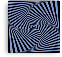 Op-Art Rad Rectangles in Blue Canvas Print
