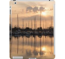 Pale Gold Sunrise With Yachts  iPad Case/Skin