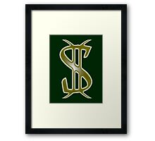 Green and Gold iPhone / Samsung Galaxy Case Framed Print