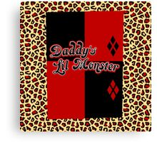 Daddy's Lil Monster - coloured Canvas Print