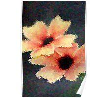 Peach Flower Art Poster