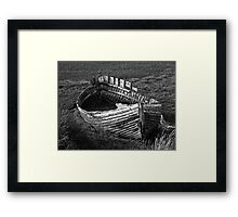 Once we sailed on the endless sea Framed Print