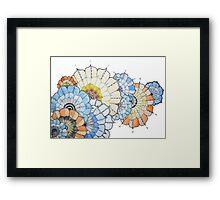 Coloured Flower Design Framed Print