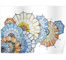 Coloured Flower Design Poster