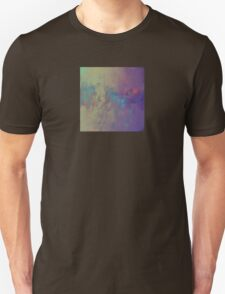 Abstract Art in Bronze, Red, and Aqua T-Shirt