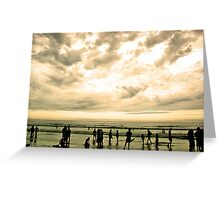beach silhoutte Greeting Card