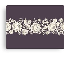 Lace, Seamless Pattern, Flowers. Canvas Print