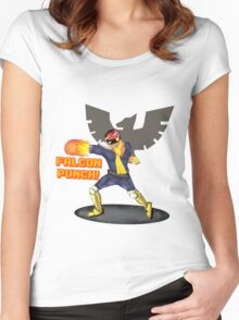 Nintendo - Falcon Punch! Women's Fitted Scoop T-Shirt