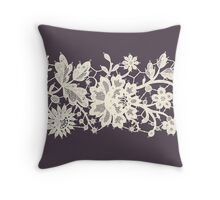 Lace, Seamless Pattern, Flowers. Throw Pillow