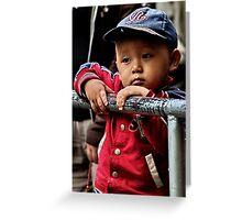 tibetan boy. mcleod ganj, india Greeting Card