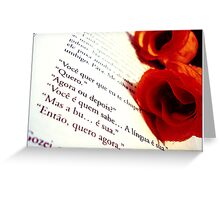 flowers and book Greeting Card