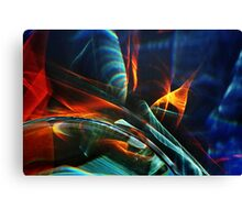 Red and blue light abstraction Canvas Print