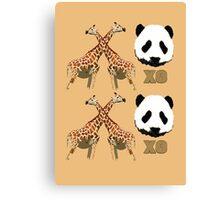 XOXO Wild Animals Canvas Print