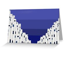 Blue and white 18 Greeting Card
