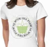 Lotus Flower Slogan Womens Fitted T-Shirt