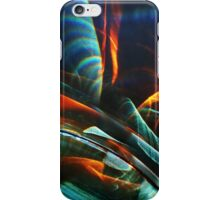 Red and blue light abstraction iPhone Case/Skin
