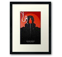 Cowboy bebop - Jet Black Framed Print