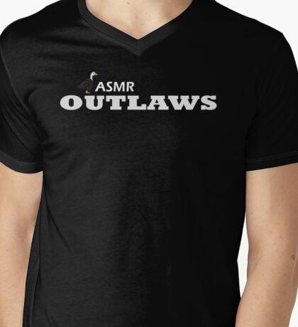 ASMR Outlaws V-Neck (White Logo) Mens V-Neck T-Shirt