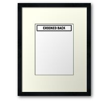 Crooked Back Framed Print