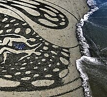 disolve, sandart. christchurch, aotearoa by tim buckley | bodhiimages