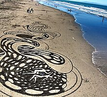 unreal. new brighton beach, aotearoa  by tim buckley | bodhiimages