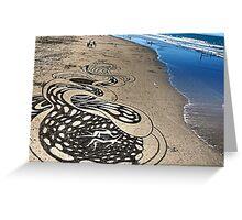 unreal. new brighton beach, aotearoa  Greeting Card