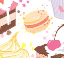 sweet cupcake pattern Sticker