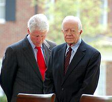 Former Presidents Bill Clinton,Jimmy Carter by Jonathan  Green