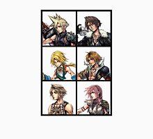 Final Fantasy Characters Design | Cloud Squall Zidane Tidus Vaan Lightning Unisex T-Shirt