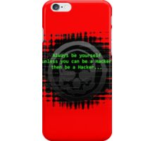 Hacker 1.0 - Geek Philosophy style skull - Software, coding and hacking designs  iPhone Case/Skin