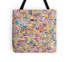 happy emoji pattern Tote Bag