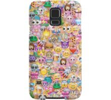happy emoji pattern Samsung Galaxy Case/Skin