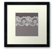 Lace ribbon. Framed Print