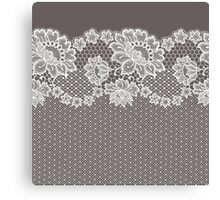 Lace ribbon. Canvas Print