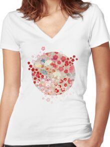 Blossom Women's Fitted V-Neck T-Shirt