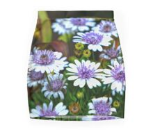 Purple and White Flowers Mini Skirt