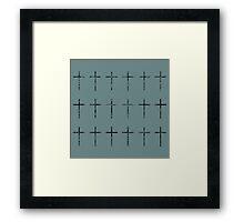 Scribbles en Crosse Framed Print