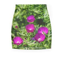 Winecup Flowers Mini Skirt