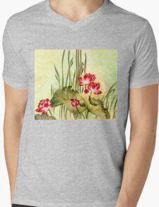 Lotuses in the Grass Mens V-Neck T-Shirt