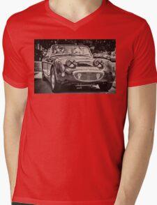 Old vintage British convertible car Austin Mens V-Neck T-Shirt