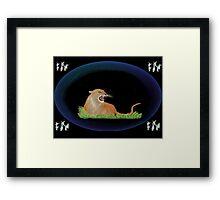 Totem - Cougar Framed Print