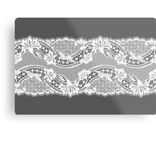 White lace ribbon. Metal Print