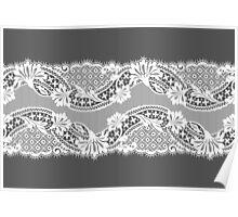 White lace ribbon. Poster