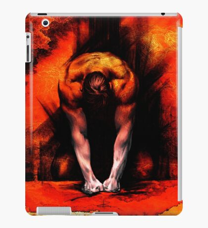 ANGER - conté drawing with overlay iPad Case/Skin