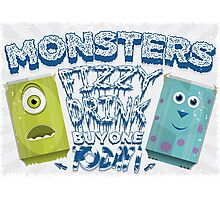 Monsters Fizzy Drink Photographic Print
