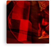Red cut glass Canvas Print