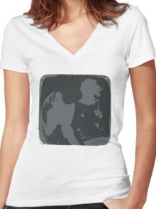 Messenger from the Inverted World Women's Fitted V-Neck T-Shirt